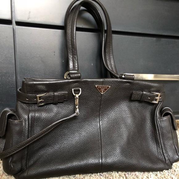0d6797083c4c26 Prada Vitello Daino Black leather bag BR 2703. M_5b36d020aaa5b838bc98860c
